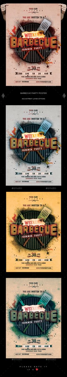 Jungle Party  Psd Poster Template  Event Flyers Template And