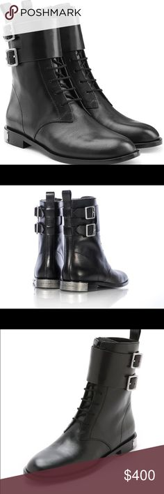 """NWT💙MARC JACOBS💙""""Grove"""" Combat Lace-Up Boots NWT💙MARC by MARC JACOBS💙""""Grove"""" Combat Boots. Tonal Side zip up closer with Lace-Up Vamp. Double monk shaft strap. Marc Jacobs brand logo hardware detail on heel. Round toe. Back pull tab. Approximate shaft height 7"""". Approximate heel height 0.75"""". Size- 38 (8M) original costs $498. Original box included. Marc by Marc Jacobs Shoes Ankle Boots & Booties"""