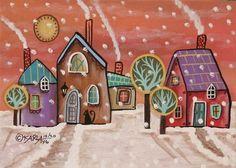 Тема сказочных домиков и городов любима многими. Их вы можете встретить в самых разнообразных работах мастеров и рукодельниц на Ярмарке Мастеров. Одними из известных домиков являются домики американской художницы-абстракционистки Karla Gerard. Родилась Karla Gerard в штате Мен. Рисовать начала еще в юности, с большой страстью. На протяжении многих лет Карла разрабатывала свой уникальный красочный…