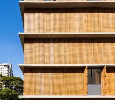 Vertical Itaim is a small building with 10 apartments in São Paulo designed by studio Small Buildings, Around The Worlds, Curtains, Studio, Wood, Projects, Design, Home Decor, Spacious Living Room
