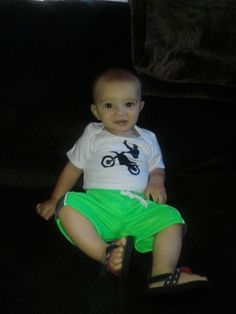 Motorcycle baby with sandals!