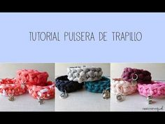 Vídeo: Cómo hacer un pulsera de trapillo ¡Siempre a la última! Diy Projects To Try, Crochet Projects, Diy Jewelry, Jewelry Making, Yarn Bracelets, Crochet Bracelet, Diy Schmuck, T Shirt Yarn, Bake Sale