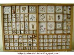 Patchwork, stitch and ideas Creative Crafts, Diy And Crafts, Letterpress Drawer, Shadow Box Memory, Printers Drawer, Printer Types, Print Box, Cute Little Things, Lace Making
