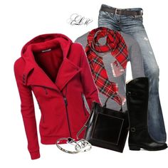 """Red Jacket!"" by tmlstyle on Polyvore"