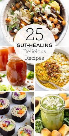 Recipes Breakfast Health Keep your health in check with this list of 25 delicious Gut Healing Recipes! We've got soups, smoothies, broths, breakfasts, and all kinds of healthy recipes! Diet Recipes, Vegetarian Recipes, Healthy Recipes, Dessert Recipes, Crohns Recipes, Healthy Foods, Anti Candida Recipes, Cleanse Recipes, Fodmap Recipes