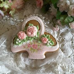 Flower basket cookie,  mother's day, spring, birthday, wedding cookies