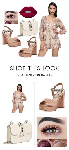 """""""Sin título #629"""" by malvinacabj on Polyvore featuring moda, WithChic, Miu Miu, Valentino y Lime Crime"""