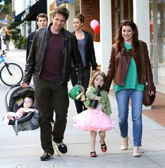 Alyson Hannigan and Alexis Denisof take the kids to Bubbles Learning Center