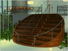 Diskowood stairs with deco by Yulia Ko - Sims 3 Downloads CC Caboodle