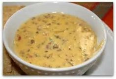 Meaty Queso Dip... We make this a lot, per my husband's request! It is delicious!!
