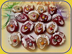 Perníkový klaun Sugar, Cookies, Party, Desserts, Food, Carnavals, Crack Crackers, Tailgate Desserts, Deserts
