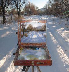 ...Winter landscape. http://janehuntart.com/workshops
