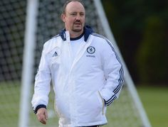 Rafael Benitez takes training for the first time...
