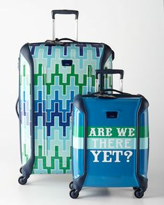 Jonathan Adler Travels With Tumi Blue Luggage Collection by Tumi at Neiman Marcus.