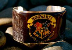 Hogwarts Harry Potter Cuff  Rustic Cuff by Jill Donovan  www.RusticCuff.etsy.com
