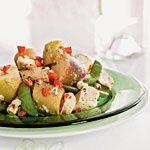 www.gaea.gr Potato, Chicken, and Fresh Pea Salad Recipe