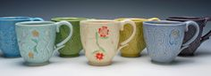 Kristen Kieffer stamped mug grouping 2016