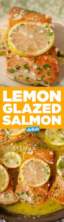 This Lemon Glazed Salmon is the most flavorful way to cook your favorite fish. Get the recipe from Delish.com.