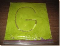 fill a bag with paint or shaving cream and have them practice letters, shapes, numbers...