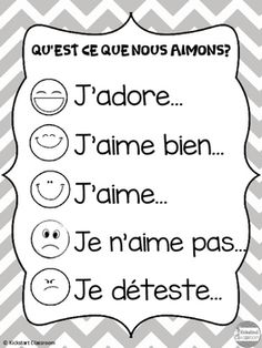 'Qu'est ce que tu aimes?' French Discussion Poster and Cards French Language Lessons, French Language Learning, French Lessons, Spanish Lessons, Spanish Language, Dual Language, Foreign Language, German Language, Spanish Class