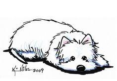 Pouting Westie Terrier - Kim Niles.