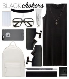 """""""black summer outfit #2"""" by nicholas-the-third ❤ liked on Polyvore featuring Monki, PB 0110, Byredo, Urban Decay, Bobbi Brown Cosmetics, Jeffrey Campbell, OtterBox and LC Lauren Conrad"""