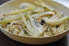 Couscous with Roasted Fennel and Toasted Almonds #gastrofans