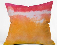Watercolor artist Laura Trevey inspires us all to live beautifully with the colorful new pillow collection. Styled in artist Laura Trevey's signature watercolor designs, the Caribbean Sea Pillow will add a pop of color to your space. Listing includes PIllow Cover and Insert.  16 x 16 x 4 (41cm x 41cm x 10cm)  18 x 18 x 5 (46cm x 46cm x 13cm)  20 x 20 x 6(51cm x 51cm x 15cm)  26 x 26 x 7(66cm x 66cm x 16cm)   Available in four sizes, our throw pillow is made from a medium weight woven…