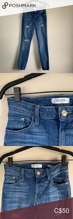 Guess Mid Rise Skinny Jeans Selling a mid rise ripped skinny jean -Excellent condition -huggable fit Guess Jeans Skinny Mid Rise Skinny Jeans, Ripped Skinny Jeans, Guess Jeans, Crochet Hair Styles, Sweater Outfits, Fashion Photo, Fashion Forward, Fashion Outfits, Garden Styles