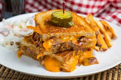 BBQ Pulled Pork Grilled Cheese.  I eat it this way anyway, why not grill the sandwich?  Awesome!