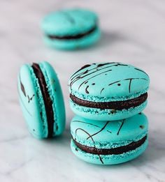 Chocolate Mint Macarons this will be one of the flavours available to order in April (UK). Others are Chocolate Peanutbutter and Chocolate Caramel hope you have a great week