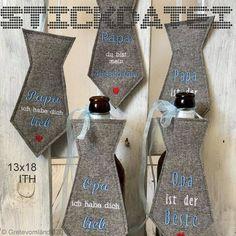 Stickmuster - Vatertag 13x18 ITH Krawatten - Stickdatei - ein Designerstück von GretevomLaendle bei DaWanda