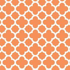 Fabric... Quatrefoil in Orange by Riley Blake Designs
