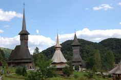 Monastery wooden churches in Maramures (Maramaros) today Romania. The territory was Kingdom of Hungary Renaissance Architecture, Baroque Architecture, Vernacular Architecture, Peles Castle, Cathedral Basilica, Sistine Chapel, Episcopal Church, Place Of Worship, Eastern Europe