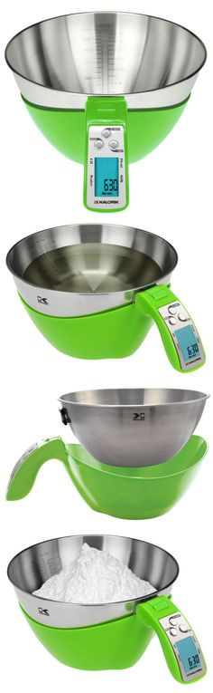 Portion out the perfect amount of dry or liquid ingredients with this handy scale. With a removable bowl and the ability to measure weight and volume together