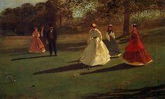 Los jugadores del croquet, 1865 - Winslow Homer