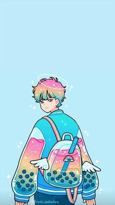 Wallpaper for IPhone, Wallpaper for Android Arte Do Kawaii, Kawaii Art, Kawaii Anime, Cute Cartoon Wallpapers, Animes Wallpapers, Kawaii Drawings, Cute Drawings, Aesthetic Art, Aesthetic Anime