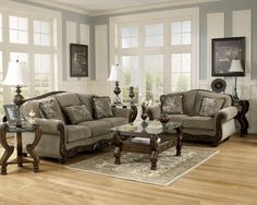 Ashley Martinsburg Meadow Sofa & Loveseat - Mason Furniture And Mattress