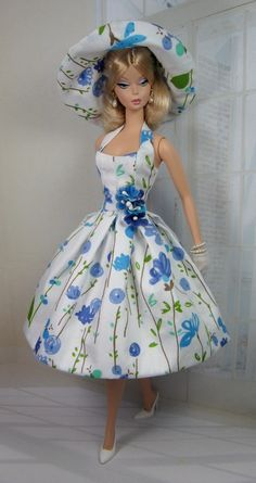 Cornflower for Silkstone Barbie and Victoire Roux on Etsy now and New Style Pattern