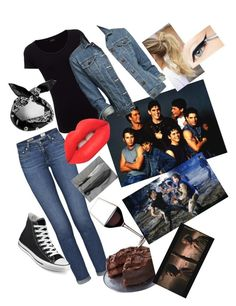 Greasers in the movie The Outsiders 50s Outfits, Casual School Outfits, Outfits For Teens, Girl Outfits, Female Outfits, Cute Outfits, Girl Greaser Outfit, Greaser Style, Disney Themed Outfits