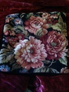 Vintage beautiful needlepoint flower by WhistlingWhaleVintge