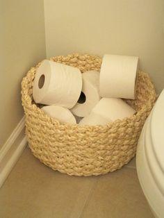 Basket of TP...life saver!