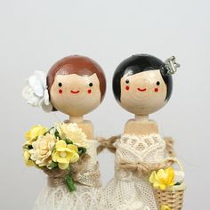 Love the custom wedding cake toppers from togetherforever.