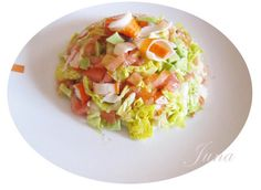 Ensalada de salmón y aguacate -  Salmon and avocado salad