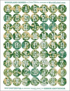 FREE printable alphabet and number tags by Cathe_Holden