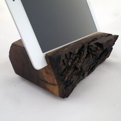 Wood Walnut Handmade iPad Stand from Grant Stands & Co