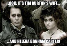 Tim Burton's wife…