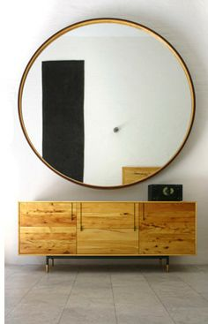 """•Another sideboard idea: So you don't have to look at the railing in front of your bed, a sideboard would work perfectly there. Something about 75-80"""" long.  Then, you'll have a place for your TV, it's simple, and a perfect place for important documents (impromptu desk)."""