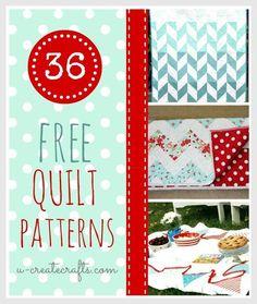 36 Free Quilt Patterns.