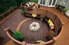 Are you thinking of how to build outdoor deck plans to beautify your outdoor living spaces? I have here how to build outdoor deck plans living spaces ideas. Backyard Patio, Backyard Landscaping, Patio Decks, Wood Patio, Terrasse Design, Deck Pictures, Timber Deck, Diy Deck, Wooden Decks